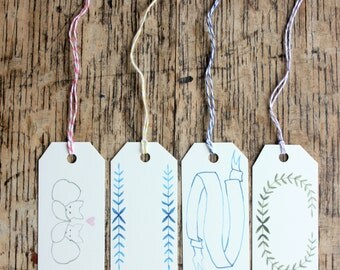 Assortment of Gift Tags Set of Eight