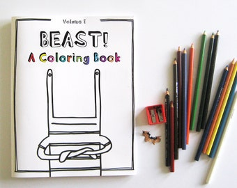 BEAST! A Coloring Book (Volume 1)