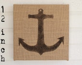Anchor-  Burlap covered Cork Message Board 12 inch