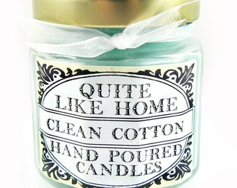 Clean Cotton scented 4 oz. jar candle