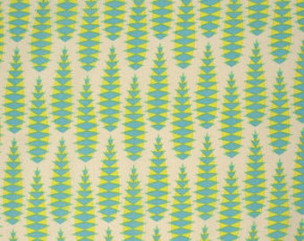 Anna Maria Horner Pretty Potent Aloe Vera Print cotton fabric candy lime green by the yard