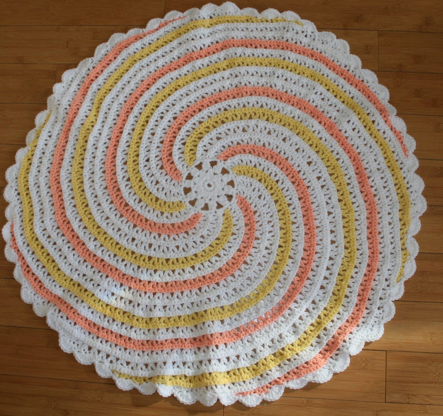 Spiral crochet baby blanket pattern instant pdf dowload round this is a digital file bankloansurffo Images