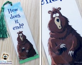"""3 Pack: Curious Bear """"How Does It End?"""" Hooked on Reading Good Book Bookmarks"""