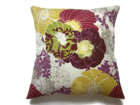 Lavender And White Throw Pillow : Purple Gold Lavender Olive Crimson White by LynnesThisandThat