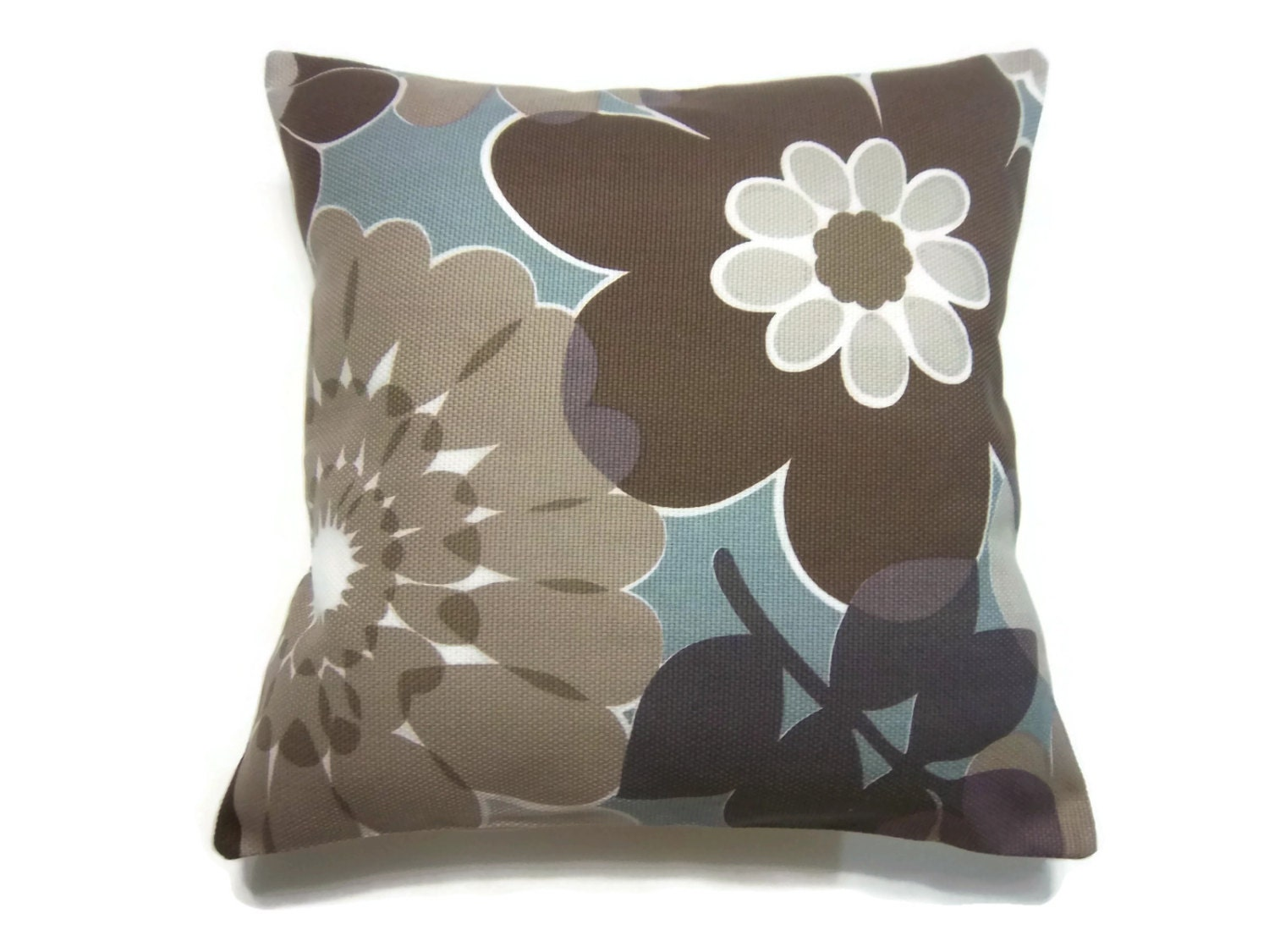 Decorative pillow covers brown gray taupe cadet blue lavender for Brown and gray throw pillows