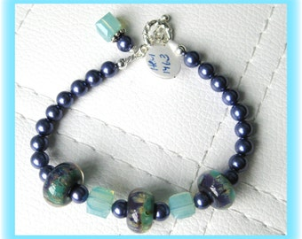 Artisan Lampwork and Swarovski Crystal Bracelet