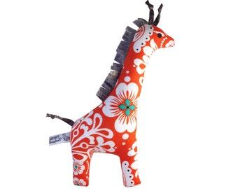 Giraffe Baby Rattle - Orange