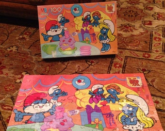 Smurfs 100 piece puzzle - get your Smurf on FREE SHIPPING