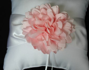 Cream or White Ring Bearer Pillow  Blush