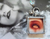 Lover's Eye necklace Vintage Upcycled Gothic Victorian Art recycled rosary