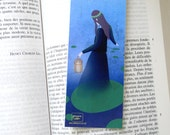 Fireflies - illustrated bookmark