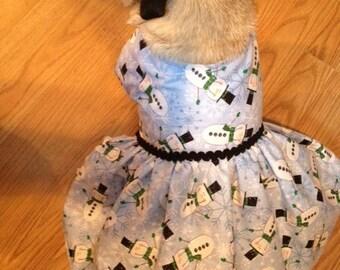 ON SALE - Pug or Small Dog Handmade one of a kind Christmas dress