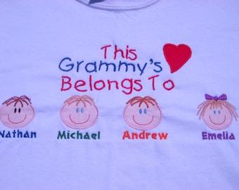 Custom Personalized Grammy Grandma Nana Aunt Mom Mommy Sweatshirt Christmas Birthday Mothers Day Gift