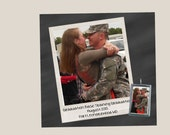 """CUSTOM PHOTO Soldered glass art pendant  """"He's my Soldier"""" Military gift Army girlfriend wife fiance"""