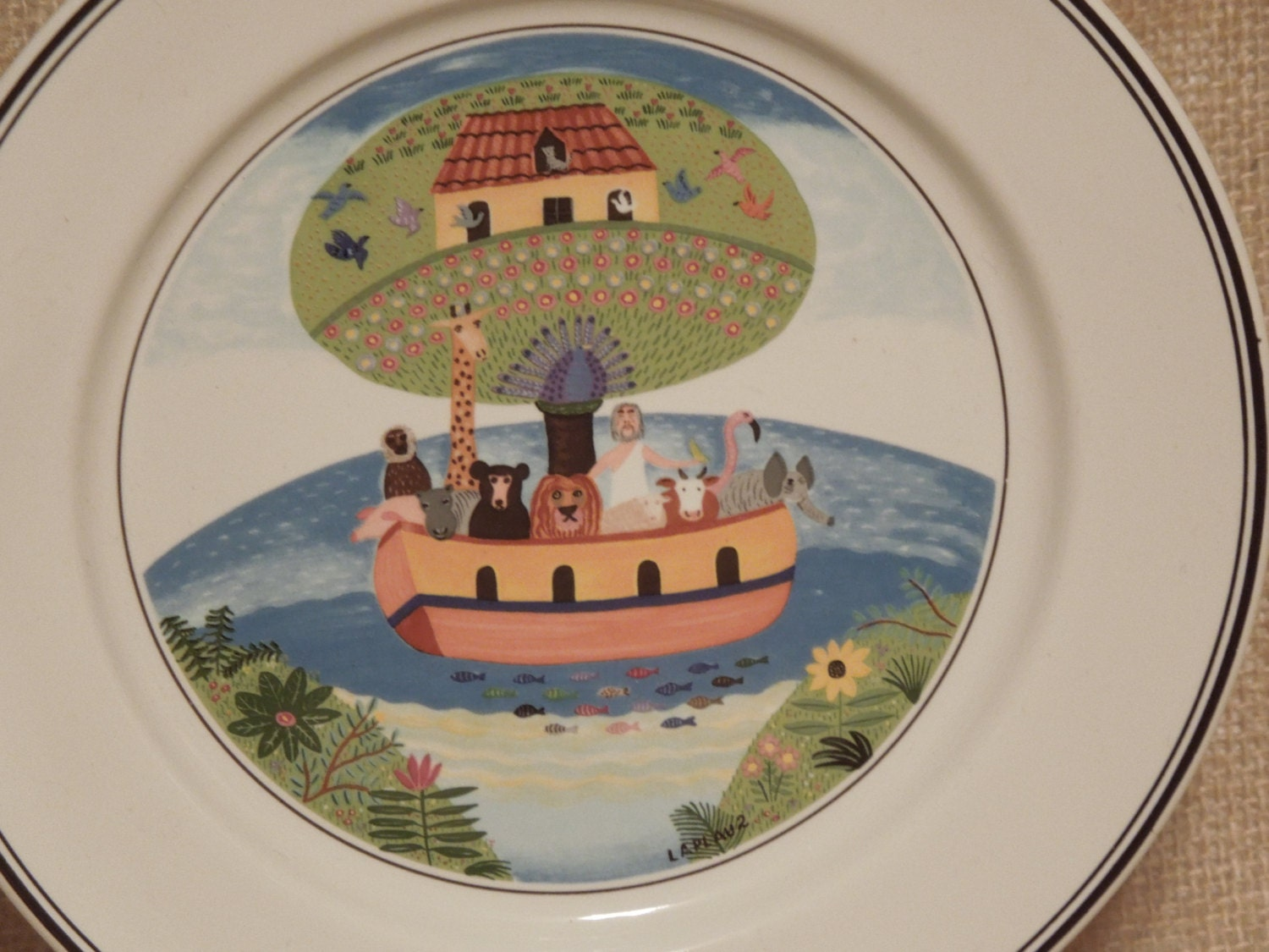 Vintage villeroy and boch collectible plate design naif for Villeroy and boch plates