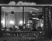 VINS & LIQUEURS, Paris Restaurant, Bistro Decor, Parisian Cafe, Montmartre, Amelie, Black and White, Le Progres, Old City Diner, Neon Lights