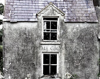 DOLLHOUSE, Tralee, Co. Kerry, IRELAND, Abandoned, Derelict, Irish Cottage, Stone Building, Old Ireland,Ghost House, Irish Famine,Desaturated