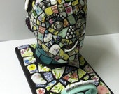 Jackie Hollywood Mosaic Recycled Sculpture