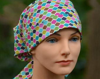 Small Perfect Fit Tie Back with Fabric Ties - Scrub Hats for Women - Jewel