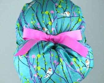 The Perfect Fit Ponytail Scrub Hat Original Design Best Fit Ever Pony Pouch-Birdie