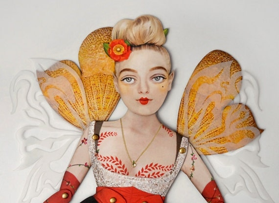 """Fairy Paper Doll - Jubilee, Fay Illustration. Great gift for mom, wife, aunt, sister, coworker. More Info? Scroll & Read """"Item Details"""""""