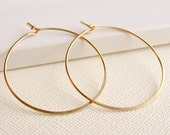 Gold fill round hoop earrings. Bridesmaid gift. Bridal party. Jewelry.