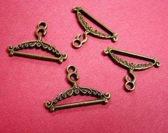 6pc antique bronze lead and nickel free pendant-2196
