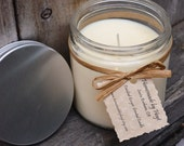 Candied Ginger Scented Soy Wax Jar Candle