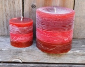 Apple and Pumpkin Strudel Scented Round Pillar Candles