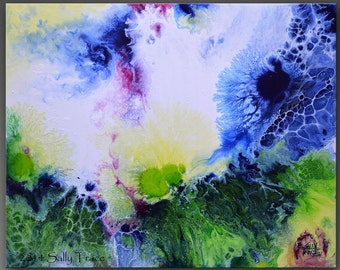 "Giclee Print on Canvas from my Original Abstract Modern Art Painting ""Flair For The Dramatic"""