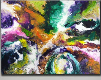 Giclee print on stretched canvas from my original abstract painting, UNSEEN FORCES 30x40
