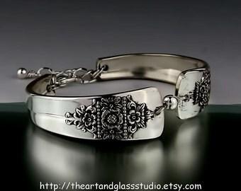 Silver Spoon Bracelet DAWN Jewelry Vintage, Silverware, Gift, Anniversary, Wedding, Birthday