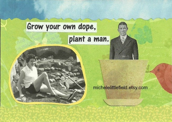 Grow Your Own Dope Funny Greeting Card