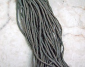 New Brown Hand Dyed Hand Sewn 100% Silk Cords Strings for Kumihimo Braids, Necklaces, Bracelets
