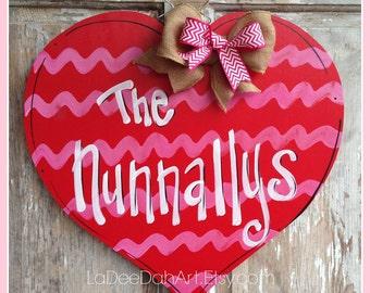 Valentines, Valentine Door Hanger, Heart Door Hanger, Valentine Decor, Love, Valentine's Day, Gift, Sweetheart Decor, Door Hanger