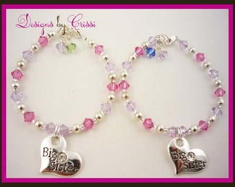 Big Sister Bracelet, Sister Bracelet Set for Big and Little Sister