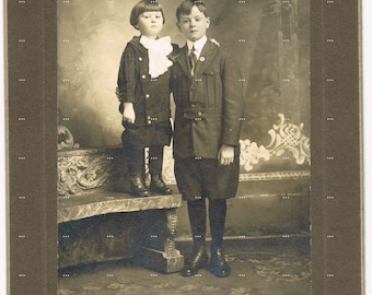 Original Antique Photo.Brothers.Victorian.Vintage.Historic.cabinet photo.family.dandies.home deco.collectible.rare.art.frame.boys.christmas