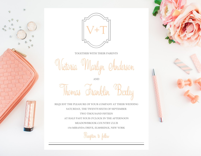 Cultural Wedding Invitations: Simple Wedding Invitation Traditional Wedding Invitation