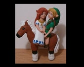 Anime Bride & Groom Wedding Cake Toppers Figure set - Custom Made - You Personalize It