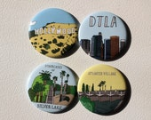 Los Angeles Themed Magnets Set of 4
