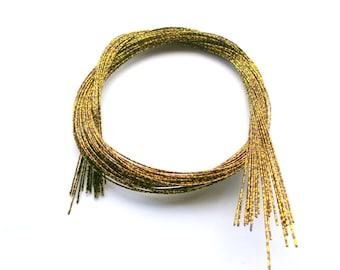 Mizuhiki Japanese Decorative Paper Strings Cords METALLIC Gold Brown