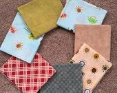 Fabric Destash no. 145, 146 -- 7 Fat Quarters