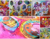 Pod-Tastic an Open Ended Online Workshop Abstract Painting Course using Acrylic Paint by Jod Ohl