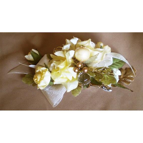 Floral barrette womens hair flower fashion accessory wedding flowers bridal