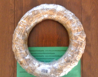 """SW12C Straw Wreath - approx. 12"""" diameter - natural - 1 pc"""