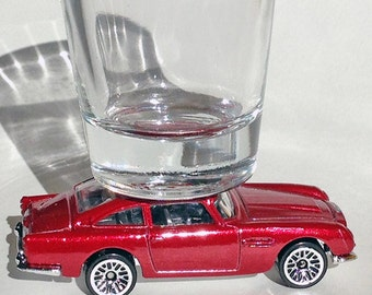 The ORIGINAL Hot Shot, Classic Hot Rods, Shot Glass, Aston Martin DB5, James Bond,Hot Wheels, RARE!