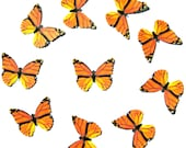 24 Monarch Butterfly Paper Embellishment For Scrapbooking, DIY Weddings, Wall Decor, Invites, School Kits, Under The Dome, DIY ACEO