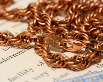 Copper Finished Necklaces. Vintage copper chain. Probably copper over steel. Necklace solid copper new lobster claw. MOVING SALE.