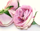 sweetheart sale- REDUCED- was 3.25 - Fully Bloomed Life Like Rose Head in Lavender Pink - artificial flower, artificial flowers - ITEM 0611