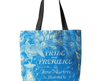 Pride and Prejudice, Jane Austen, Tote Bag, Printed in USA